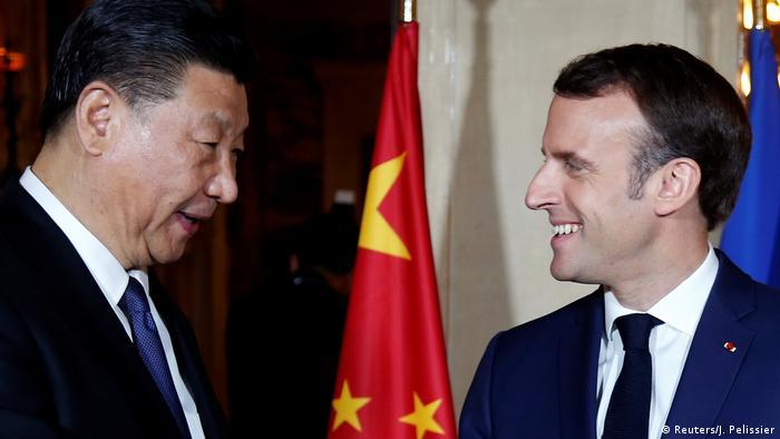 Frankreich Beaulieu-sur-Mer Xi Jinping bei Macron (Reuters/J. Pelissier)