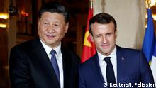 Chinese President Xi Jinping and French President Emmanuel Macron (Reuters/J. Pelissier)