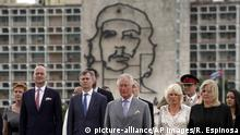 Prince Charles and his entourage in Cuba