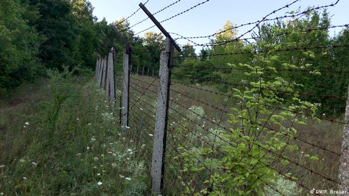 The remains of the former Eastern Bloc barrier along the Bulgarian-Turkish border