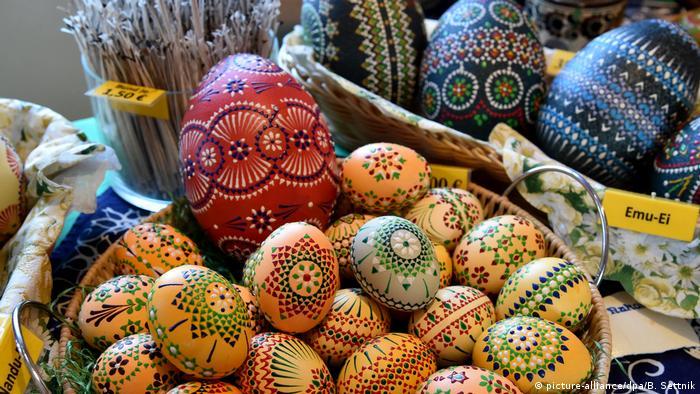Пасхальные яйца на ярмарке в Люббенау