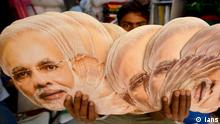 Face masks of Indian Prime Minister Narendra Modi (Ians)