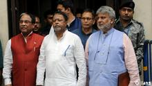 Indien BJP Politiker Mukul Roy und Jay Prakash Majumdar