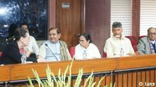 New Delhi: UPA chairperson Sonia Gandhi, Loktantrik Janata Dal leader Sharad Yadav, West Bengal Chief Minister and Trinamool Congress supremo Mamata Banerjee and Andhra Pradesh Chief Minister N. Chandrababu Naidu at opposition parties\' meeting in New Delhi on Feb 27, 2019. (Photo: IANS)