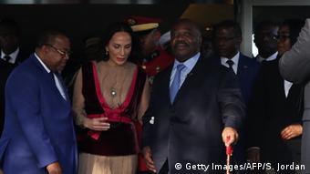 Gabun Ankunft Präsident Ali Bongo in Libreville (Getty Images/AFP/S. Jordan)