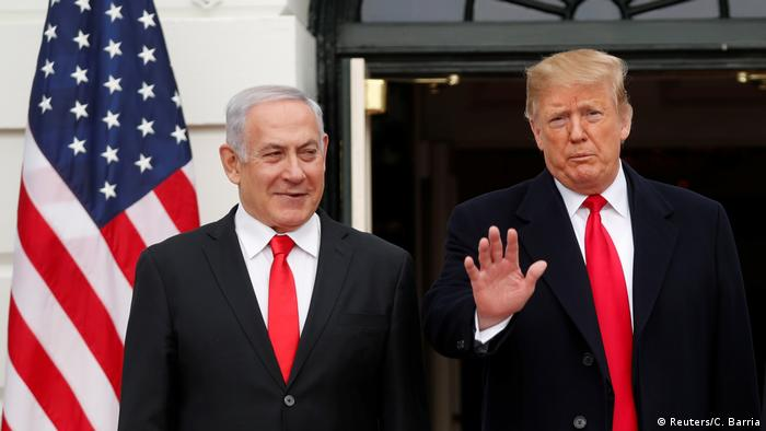USA | Trump empfängt Israels Premier Netanyahu in Washington (Reuters/C. Barria)