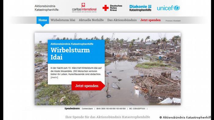 Spendenaufruf Mosambik Aktionsbündnis Katastrophenhilfe (Aktionsbündnis Katastrophenhilfe)