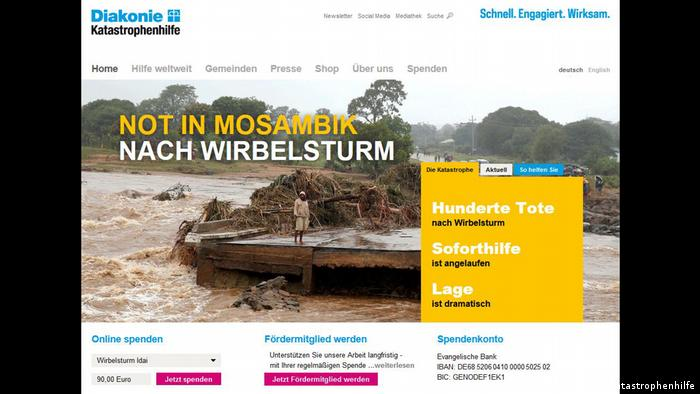 Spendenaufruf Mosambik Diakonie Katastrophenhilfe (Diakonie Katastrophenhilfe)