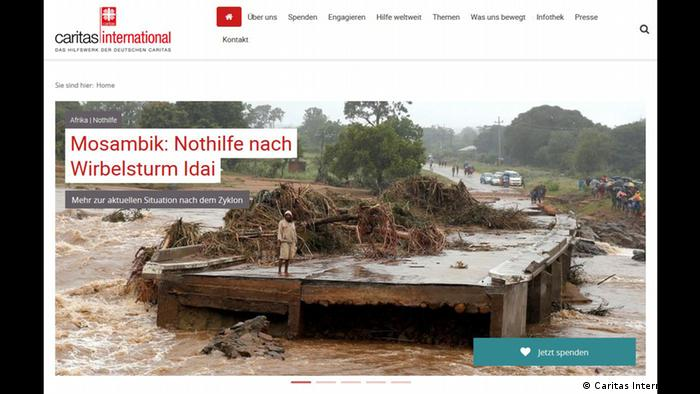 Spendenaufruf Mosambik Caritas International (Caritas International)