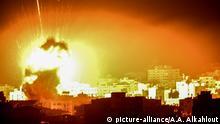 Palästina   Israelischer Luftangriff auf Gaza Stadt