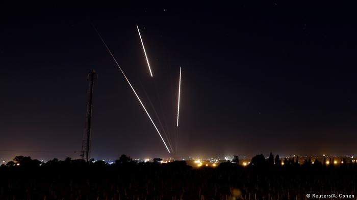 Aus Gaza abgefeuerte Raketen