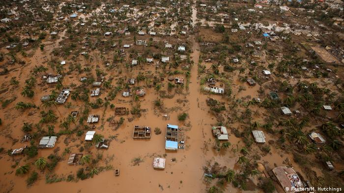 Flooded houses seen from above in Beira, Mozambique (Reuters/M. Hutchings)