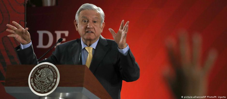 Mexiko City | Andres Manuel Lopez Obrador, Präsident (picture-alliance/AP Photo/M. Ugarte)