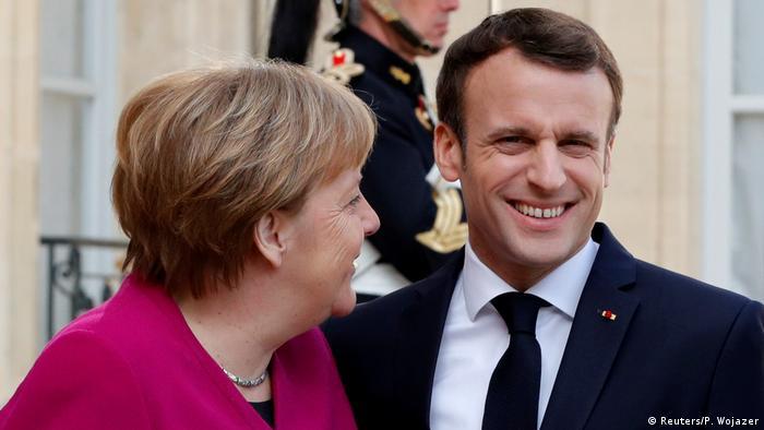 Angela Merkel Emmanuel Macron