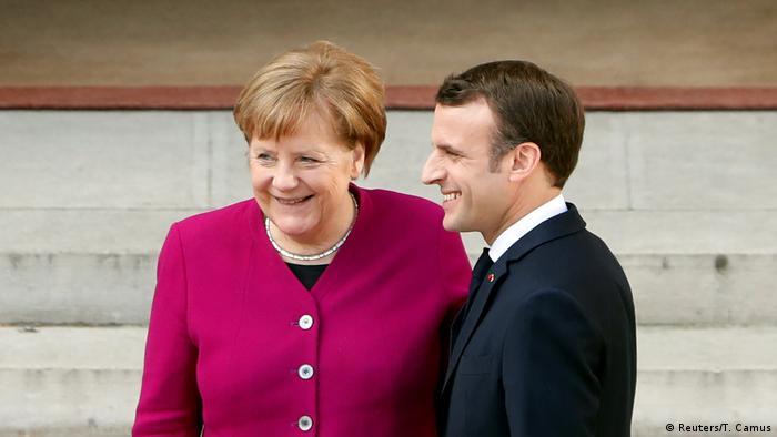 Angela Merkel Emmanuel Macron (Reuters/T. Camus)