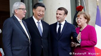 Париж, 26 марта 2019: встреча европейцев с лидером Китая
