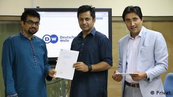 Participants of a TV Training by DW Akademie Pakistan (photo: privat )