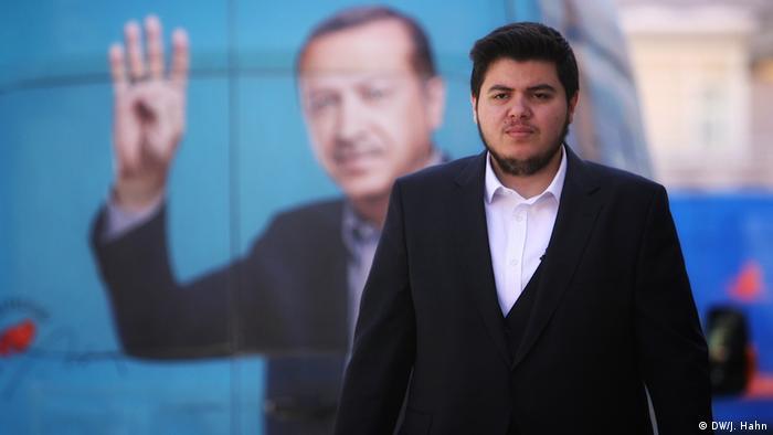 Recep Tayyip Erdogan, 20 Jahre alt, kandidiert bei den Kommunalwahlen in der Türkei (DW/J. Hahn)