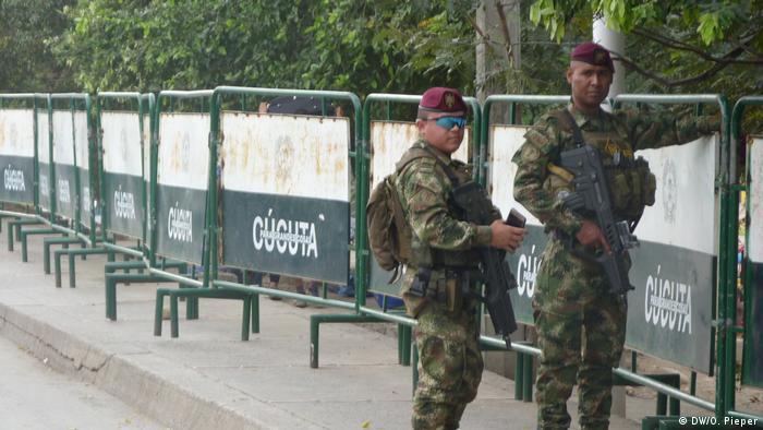 Soldados colombianos en Cúlcuta.