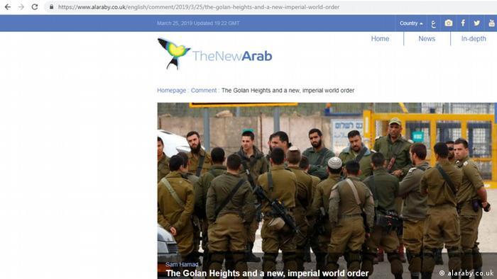 Berichterstattung in Al-Araby Al-Jadeed