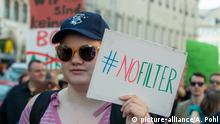 Demonstration gegen Artikel 13 in München