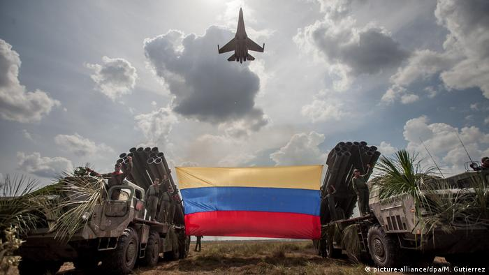 A Russian-made Sukhoi SU-30 participates in a military exercise in Venezuela