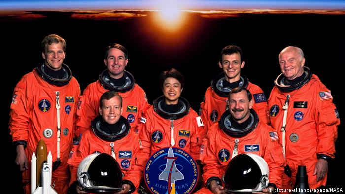 Chiaki Mukai and NASA Mission STS-95 Space Shuttle Discovery