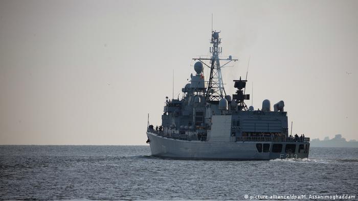 Niemiecka fregata Augsburg uczestniczyła w zakończonej tymczasem misji Sophia