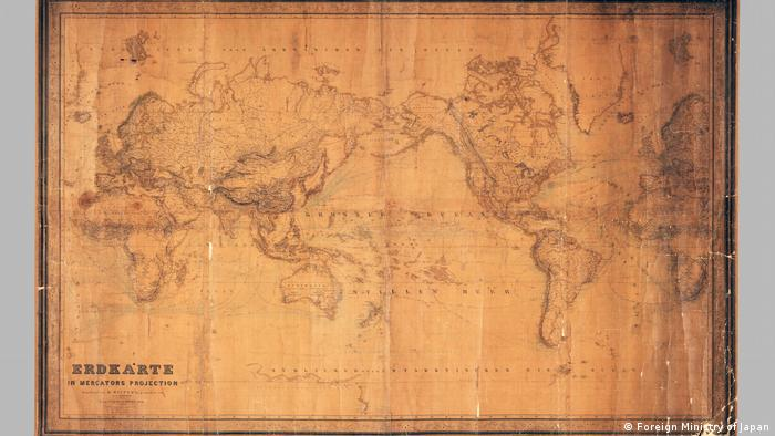 Deutsche Karte von 1856 mit Verweis auf das Japanische Meer