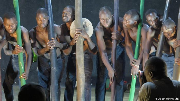 Former prisoners with the Nkhokwe Arts theater company perform in Malawi's second-largest city