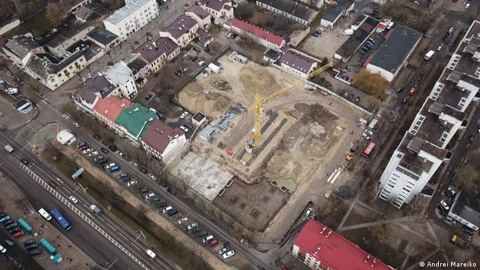 Construction site in Brest seen from the air
