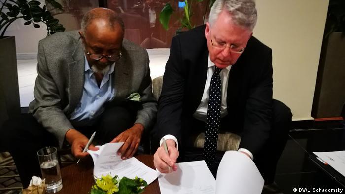 DW-Intendant Peter Limbourg und DW-Delegation in Äthiopien