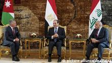 Dreiergipfel Ägypten-Jordanien-Irak in Kairo