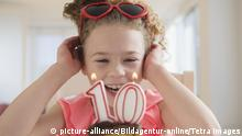 Symbolbild Kindergeburtstag, Kind 10 Jahre alt
