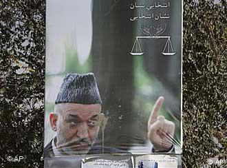 Poster pemilu Hamid Karzai.