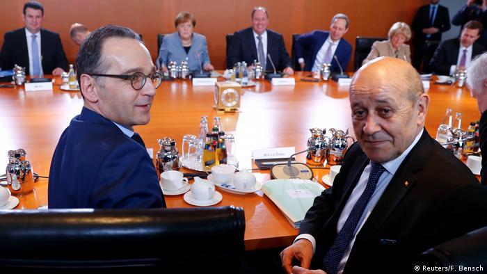 Heiko Maas & Jean-Yves Le Drian (Reuters/F. Bensch)