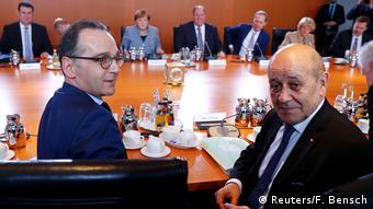 Deutschland Berlin Heiko Maas & Jean-Yves Le Drian, Außenminister Frankreich (Reuters/F. Bensch)