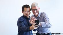 China App TikTok | Tim Cook und Zhang Yiming