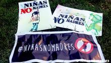 """""""Niñas no madres (""""Mädchen, nicht Mütter"""") in Lateinamerika"""
