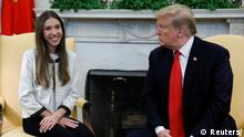 USA, Washington: Treffen zwischen Pence, Trump und Fabiana Rosales