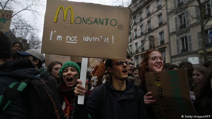 Protestmarsch gegen den Klimawandel in Paris Mitte März 2019 (Foto: Getty Images/AFP)