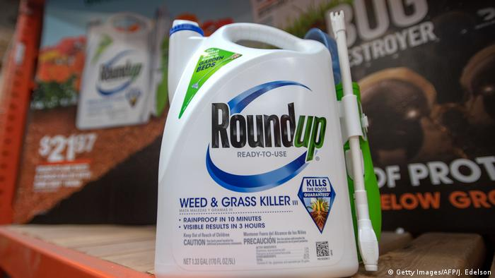 Package of Roundup on shelf