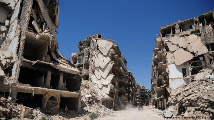 Aleppo in Syrien: Zerstörung der Infrastruktur