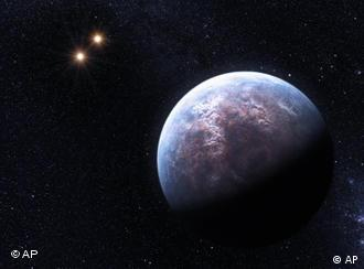 This artist rendering provided by the European South Observatory shows some of the 32 new planets astronomers found outside our solar system