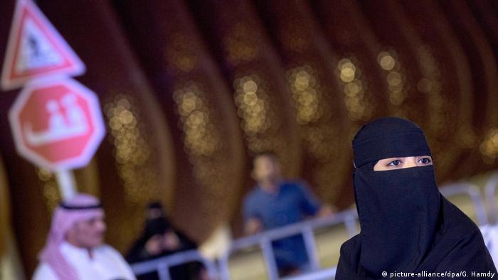 A veiled woman in Saudi Arabia