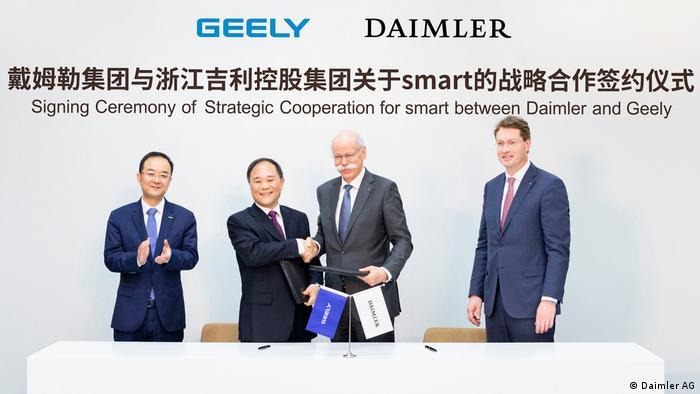 Daimler und Geely Holding unterzeichnen Smart-Abkommen