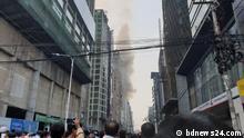 Brand in Bürogebäude in Dhaka, Bangladesch