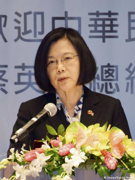 Taiwan President Tsai Ing Wen delivers a speech in Honolulu, Hawaii (imago/Kyodo News)