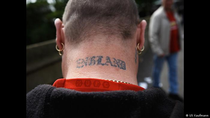 Man with England tatooed on the back of his neck (Copyright: Uli Kaufmann)