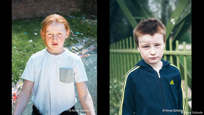 Two pictures of roughly ten year old boys (Copyright: Anna Szkoda)